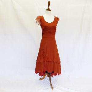 Morgan Le Fay Elegant Tea Length Dress